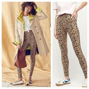 J Crew - High-rise Leggings in Leopard NWT- Size S